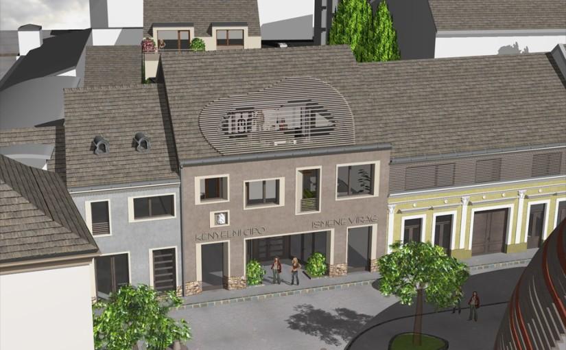 Társasház terv lakásokkal és üzletekkel Vác belvárosában