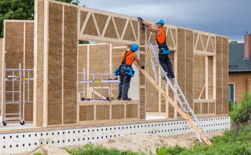 Fenntartható építészet – szalma hőszigetelő falazat