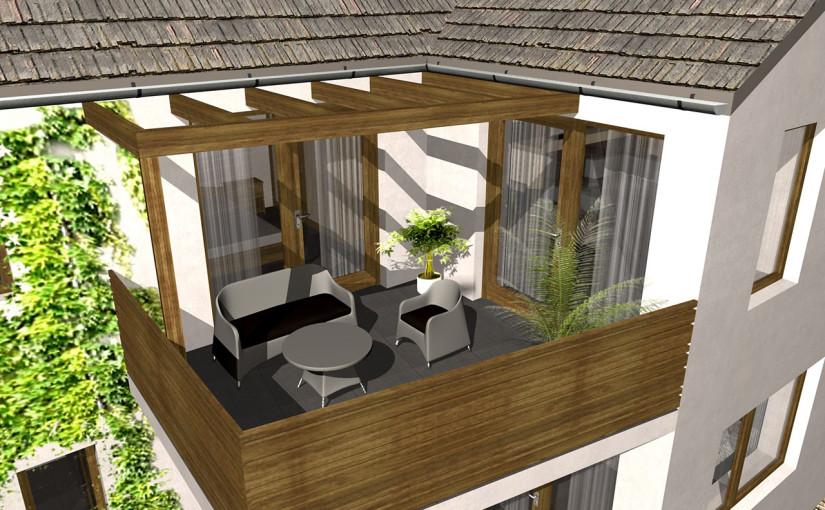 4 lakásos társasház terv Vác belvárosában