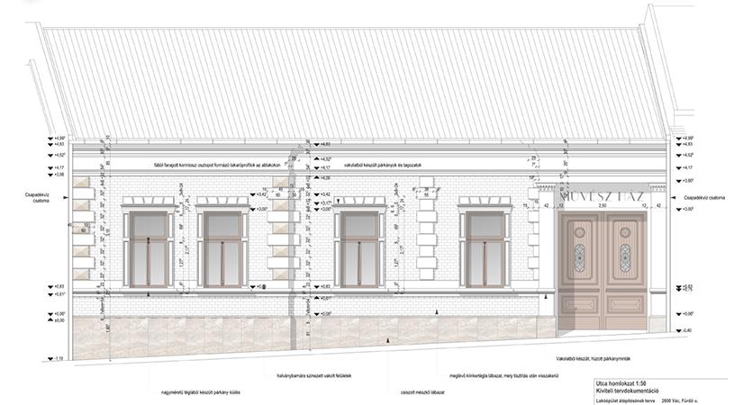 Régi épület felújítás, átépítés Vác belváros