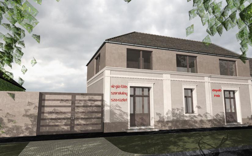 Régi lakóház átalakítása üzlethelyiségekké
