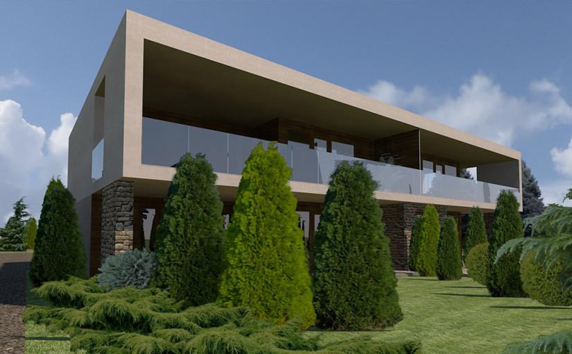 4 lakásos társasház terv Ürömhegyen